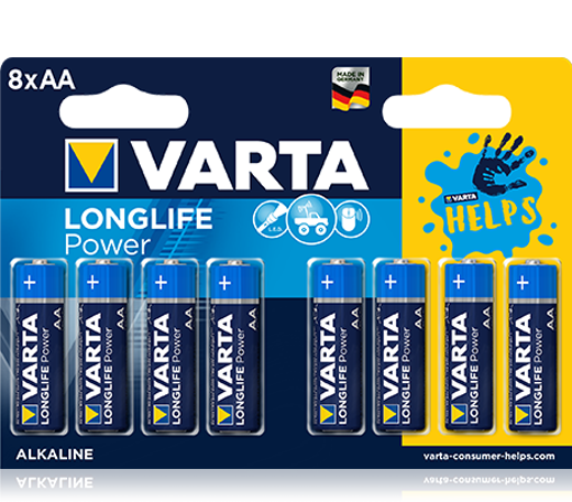 VARTA Longlife Power AA 8 pack